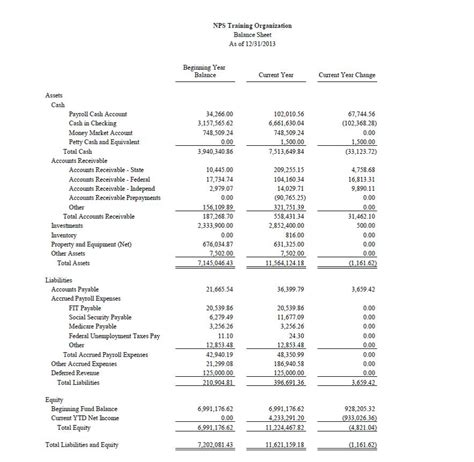 income statement for non profit organization template best photos of word balance sheet balance sheet template