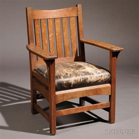 Stickley Armchair by L J G Stickley Armchair Oak Fayetteville New York C