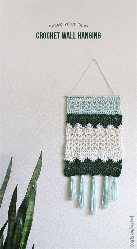pattern for wall hanging diy wall hanging crochet pattern consumer crafts