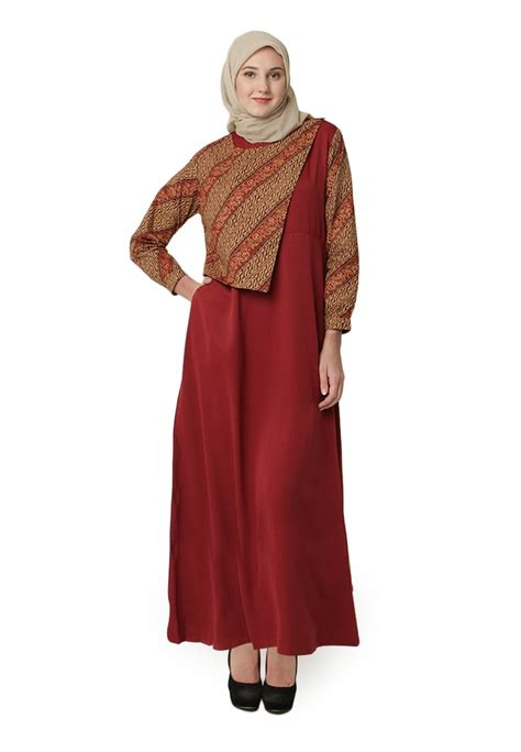 Baju Gamis Kaos Sangat Cantik trend model baju muslim terbaru bunda muda