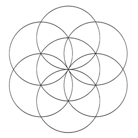 geometric designs using circles how to graphically make the quot seed of life quot pattern using a