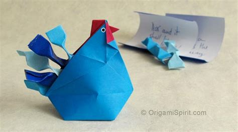Origami Hen - make an origami hen improved and updated to make a