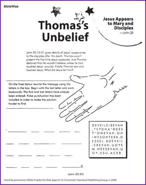 coloring page for doubting thomas thomas unbelief kids korner biblewise sunday school