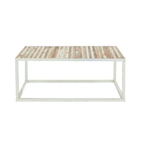 table basse en bois et m 233 tal l 100 cm mistral maisons du