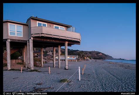 buy house in california usa picture photo beach house with high stilts stinson beach california usa