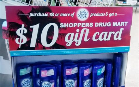 What Gift Cards Does Shoppers Drug Mart Sell - canadian mail in rebates 10 shoppers drug mart gift card when you spend 8 on lady