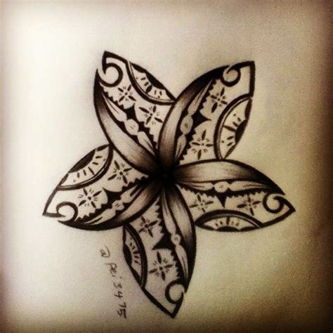fijian tribal tattoos fijian flower june2015 169 flower