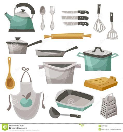 kitchen stuff kitchen stuff icons set stock vector illustration of