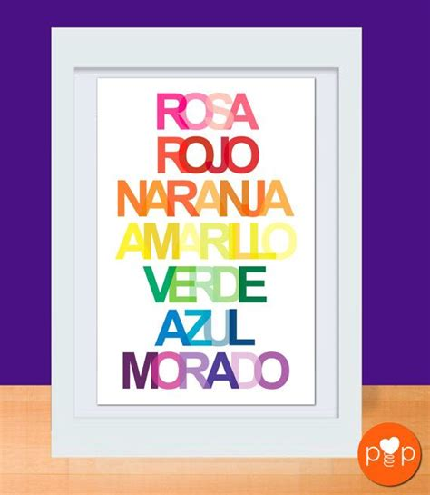 the colors of the rainbow in spanish 187 learning spanish rainbow colors art prints in english spanish 2 11 x