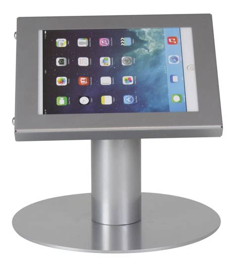 Tablet Desk Stand Securo 7 8 Inch Grey Lockable Exhibishop Tablet Stand For Desk