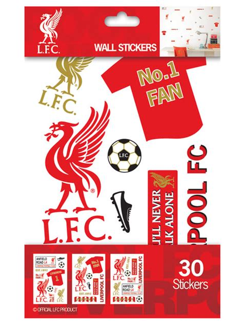 Wall Sticker Liverpool 3 liverpool fc wall stickers 30 pieces
