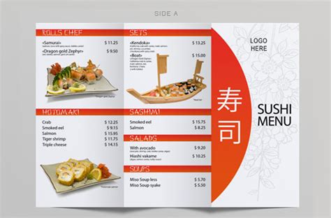 menu templates 32 free psd eps ai indesign word