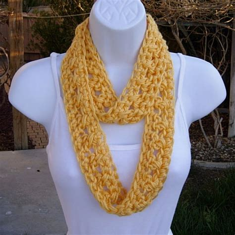 lightweight infinity scarf knitting pattern small solid yellow s summer infinity loop