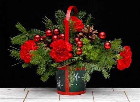 small christmas basket flower arrangements flickr photo sharing