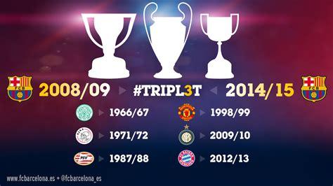 Treble Winner el fc barcelona es el primer equipo de la historia en