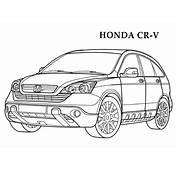 Desenho De Honda Para Colorir  Desenhos Carros