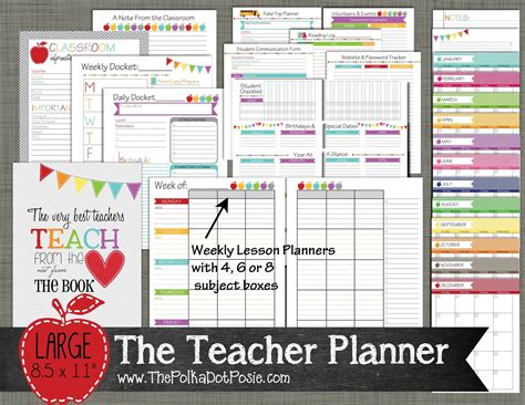 free printable planner pages for teachers the polka dot posie new teacher homeschool planners