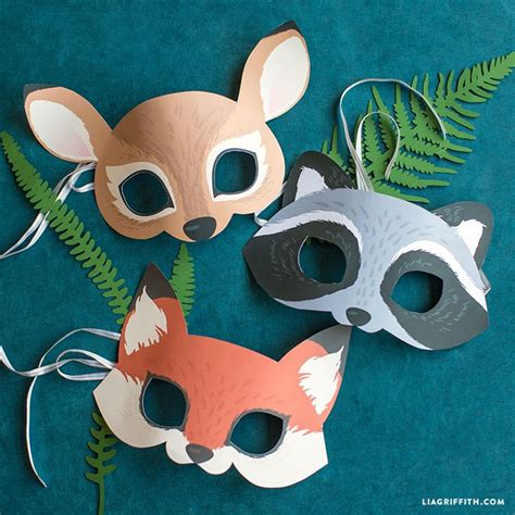 woodland animal mask templates top 25 best animal masks ideas on paper plate