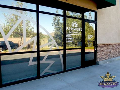 Farmers Insurance Glass Door Window Graphics Etched Glass Window Letters