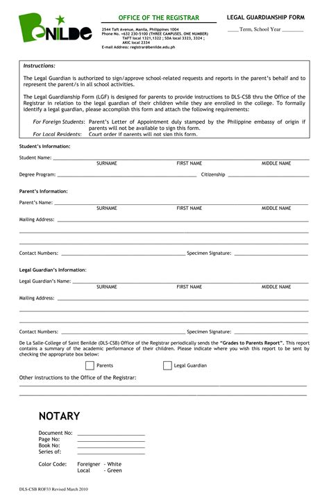 guardianship form 10 guardianship forms guardianship affidavit