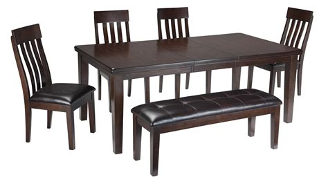 Bench And Chair Dining Sets Signature Design By Haddigan 6 Rectangular