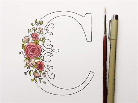 25 floral typography designs blend with flowers