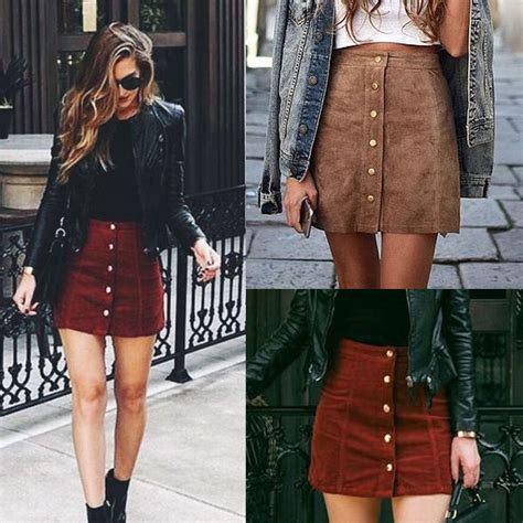 Mini Leather Skirt Rok Pendek Mini Kulit Merah I Diskon skirt brown beli murah skirt brown lots from china skirt brown suppliers on aliexpress