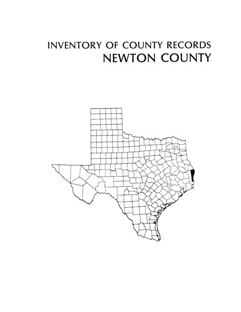 Newton County Clerk Of Court Records Inventory Of County Records Newton County Courthouse