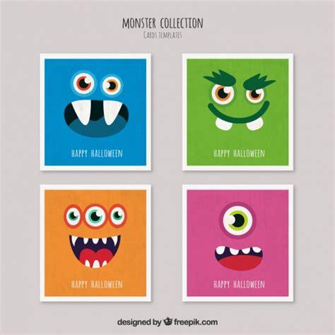 tarjeta animada para halloween halloween tarjetas tarjetas de monstruo de halloween descargar vectores gratis