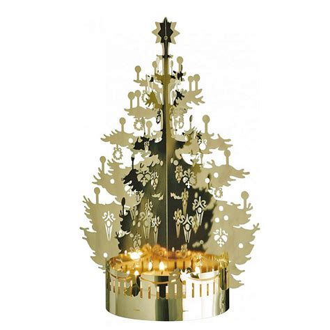 jette frolich design gold christmas tree tealight holder