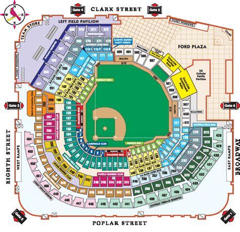 detailed seat map of busch stadium seating chart for busch stadium busch stadium seating