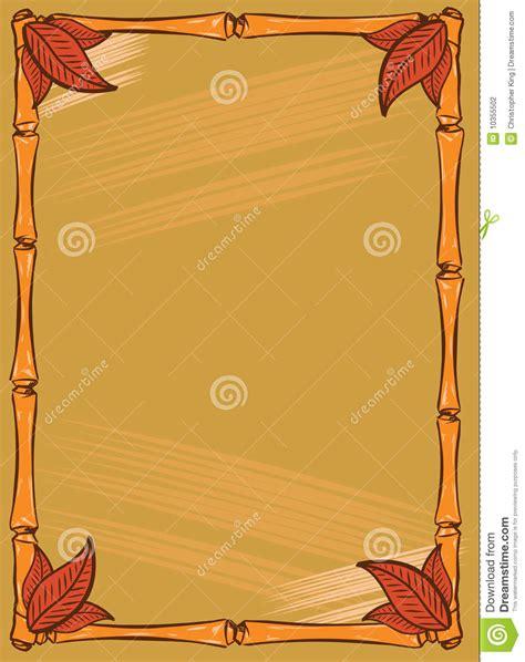 Tiki Bar Style Frame Design Stock Vector Image 10355502 Tiki Bar Menu Template