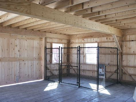 Garage Kennel by For Garage Keeps Them Out Of Toxic Fluids As Well With
