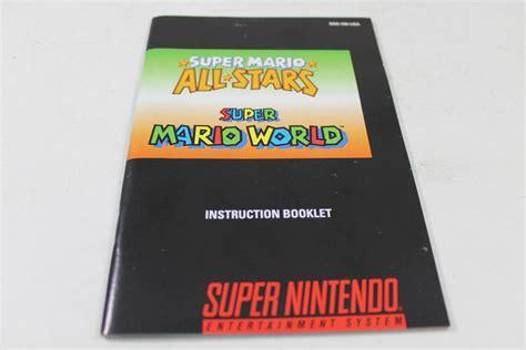 Manual Super Mario All Stars World Snes Nintendo