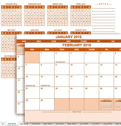whole year calendar template 2016 calendar excel year