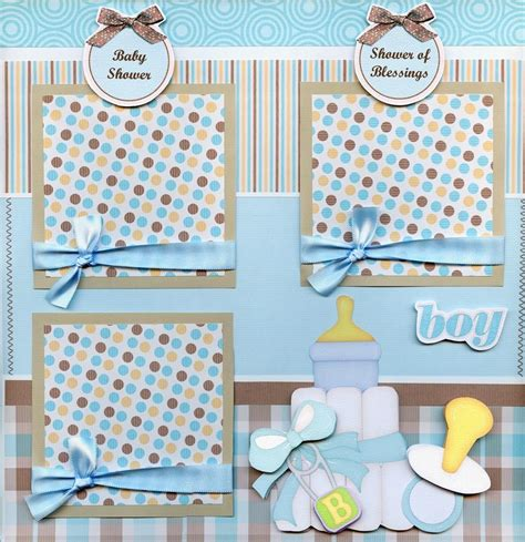 Baby Shower Scrapbook Pages by Baby Shower Boy 2 Premade Scrapbook Pages Paper Piecing