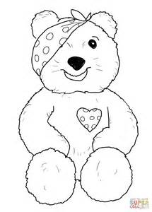 Pudsey Template Printables by Pudsey Sitting Coloring Page Free Printable