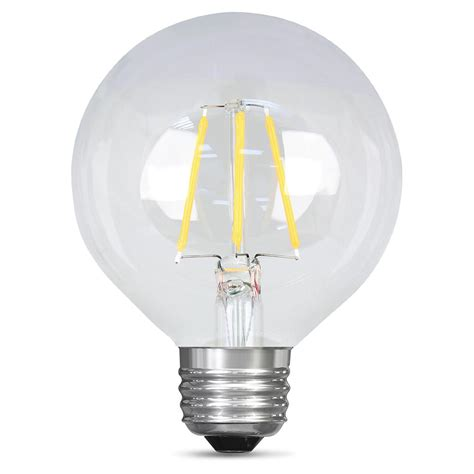 Led Clear Light Bulbs Feit Electric 40w Equivalent Daylight G25 Dimmable Clear Filament Led Medium Base Light Bulb