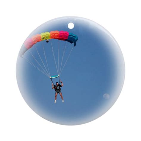 skydiving christmas ornament round by freestylefotoz