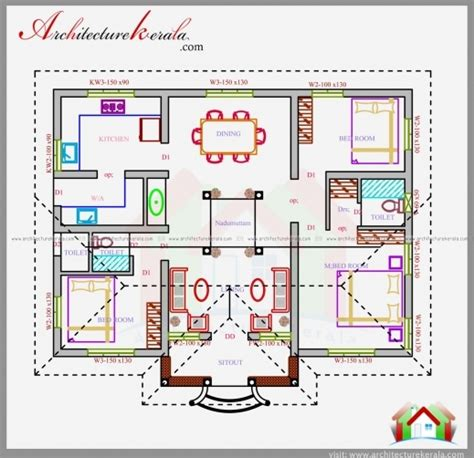 1200 sq ft house plan house plans kerala 1200 sq ft house floor plans