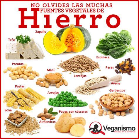 alimento vegano de hierro en la dieta vegana y vegetariana