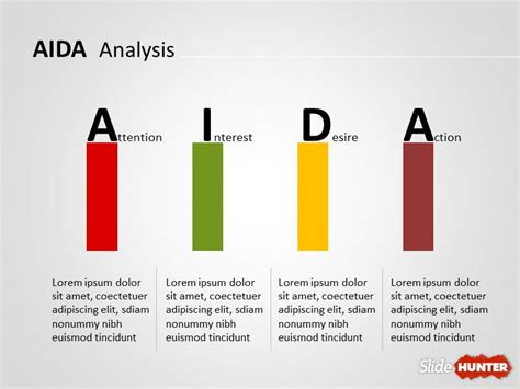 Free AIDA PowerPoint Template   Free PowerPoint Templates