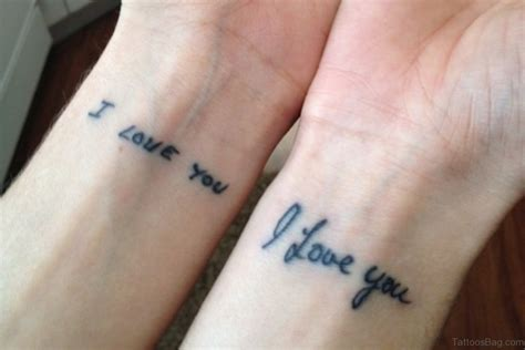 i love you tattoos 62 lovable wording tattoos for wrist