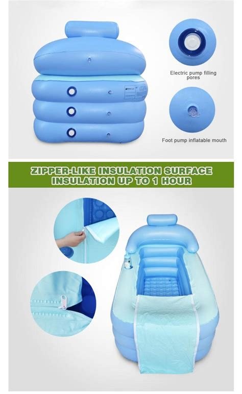inflatable bathtubs for adults dhl adult spa pvc folding portable plastic bathtub for