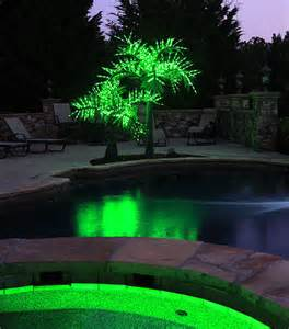 outdoor light up tree lighted artificial palm trees yard envy