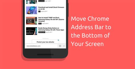 Chrome Address Bar Search How To Move Chrome Browser Address Bar To The Bottom Of Your Screen Droidviews