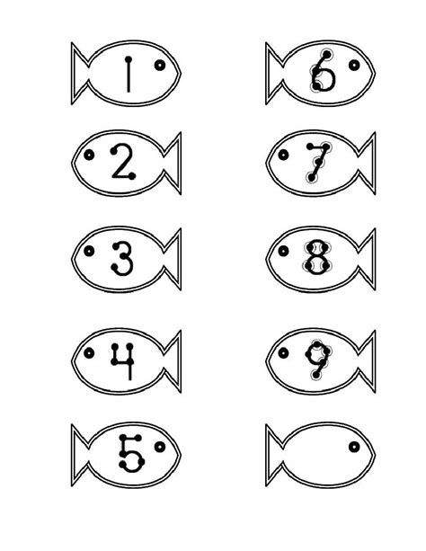 printable numbers on fish adventures in tutoring and special education february 2012
