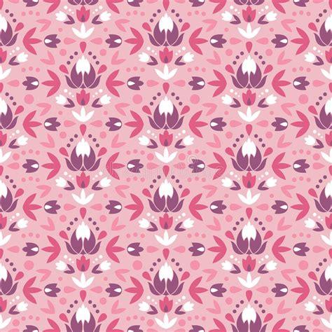 flowers seamless pattern element vector background abstract damask flowers seamless pattern stock vector