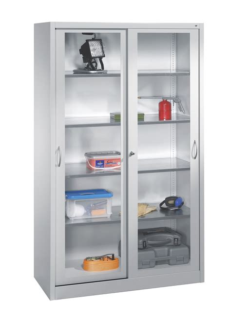 Glass Storage Cabinet Storage Cabinet With Glass Doors Homesfeed