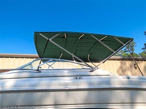 bimini boat works cruiser bimini tops and enclosures black dog design inc